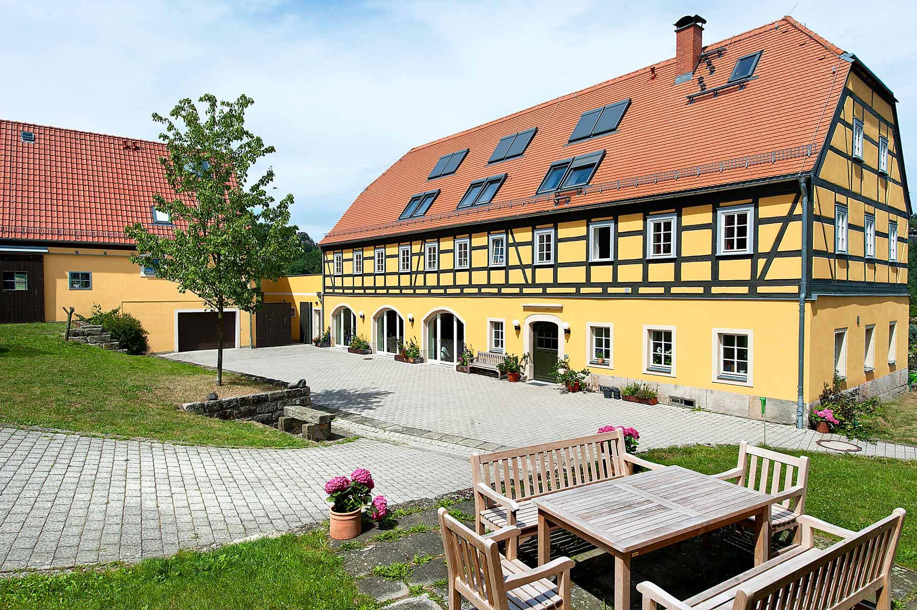 Alter Gutshof Papstdorf - Blick in den Innenhof