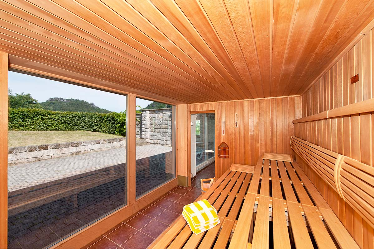 Sauna mit Panoramablick