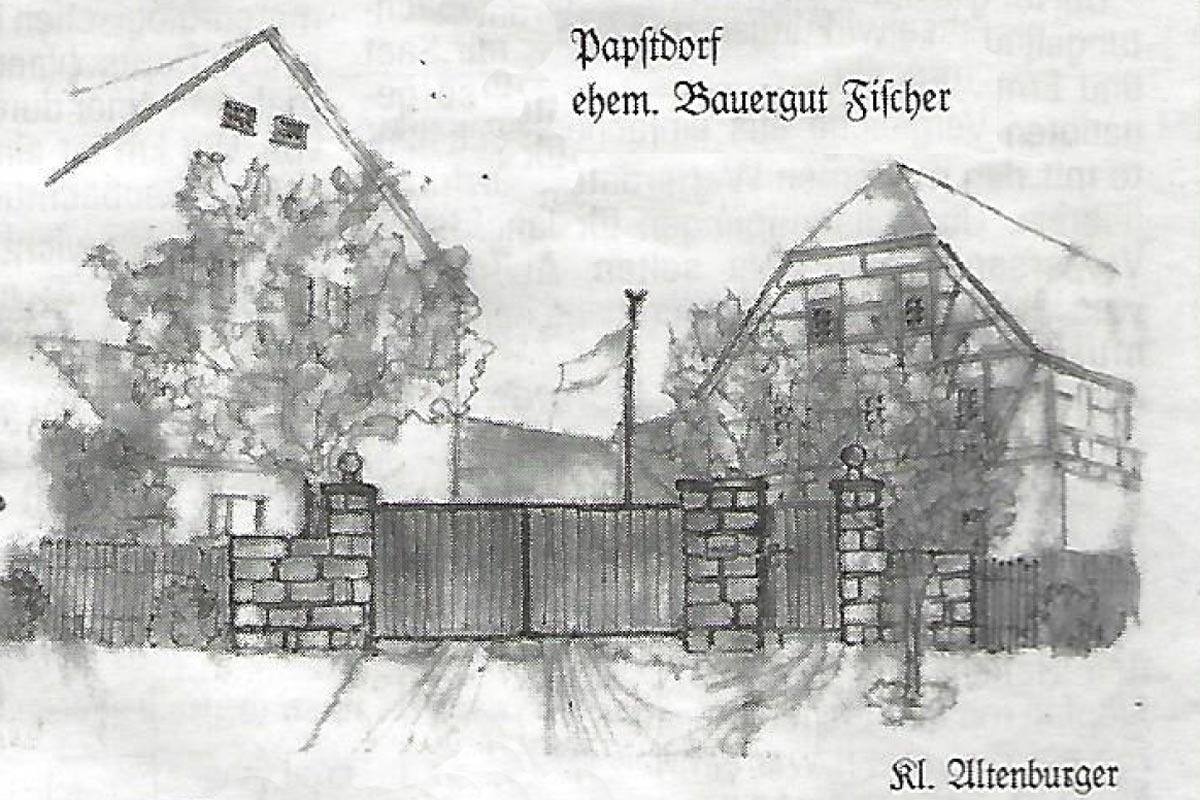 Alter Gutshof Papstdorf - Ansicht von Kl. Altenburger