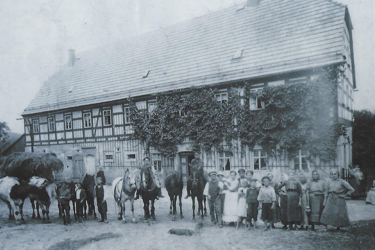 Alter Gutshof Papstdorf vor langer Zeit