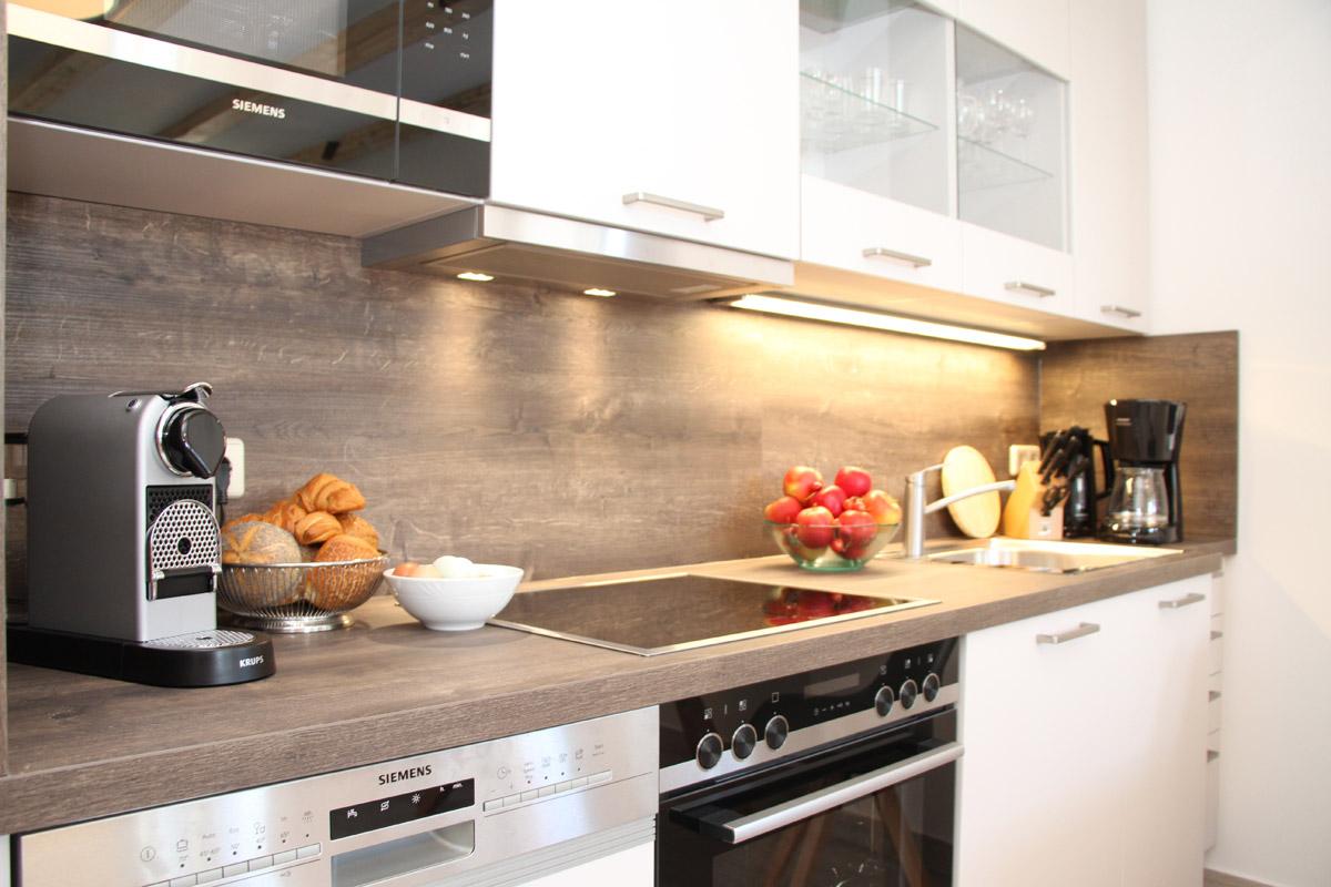 Feriensuite Falkenstein - Küche mit Vollausstattung